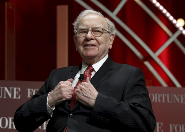 Warren Buffett, chairman and CEO of Berkshire Hathaway, prepares to speak at the Fortune's Most Powerful Women's Summit in Washington October 13, 2015.
